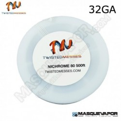 TWISTED MESSES N80 WIRE 32GA 500FT / 150M