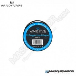 STAGGER FUSED CLAPTON SS316L WIRE VANDY VAPE 10FT / 3M