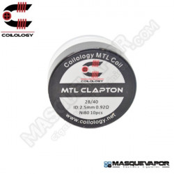 PERFORMANCE COIL MTL CLAPTON Ni80 28/40 PACK 10 COILS COILOLOGY