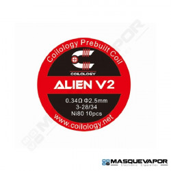 PERFORMANCE COIL ALIEN V2 Ni80 3-28/34 PACK 10 COILS COILOLOGY