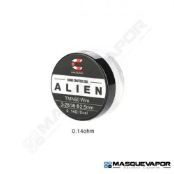 HANDCRAFTED COILS ALIEN TWISTED MESSES NI80 3-28/36 0.14OHM PACK 2 COILS COILOLOGY