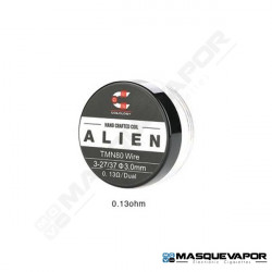 HANDCRAFTED COILS ALIEN TWISTED MESSES NI80 3-27/37 0.13OHM PACK 2 COILS COILOLOGY