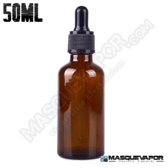 50ML GLASS AMBER BOTTLE WITH DROPPER