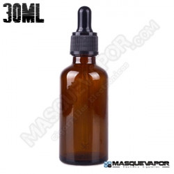 30ML GLASS AMBER BOTTLE WITH DROPPER