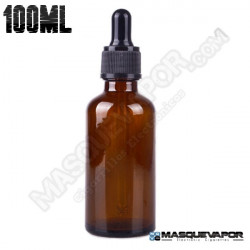 100ML GLASS AMBER BOTTLE WITH DROPPER