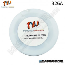TWISTED MESSES N80 WIRE 32GA 250FT / 75M
