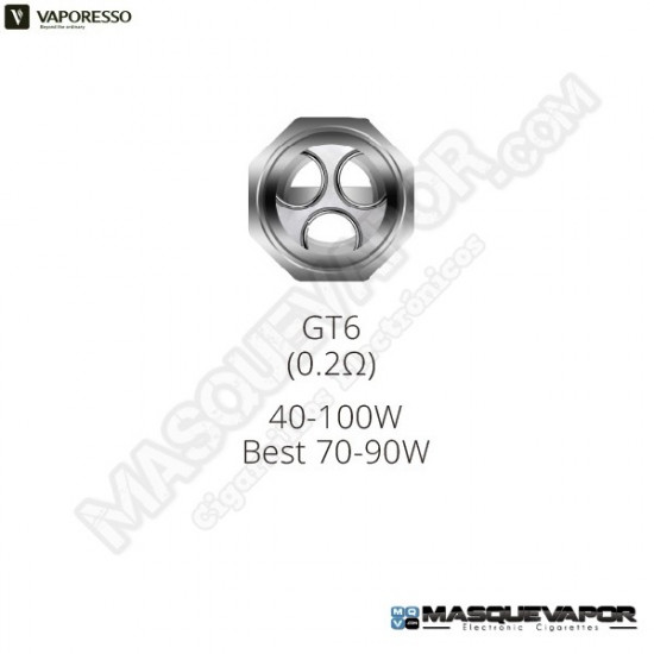 VAPORESSO GT6 CORE 0.2OHM NRG TANK COIL