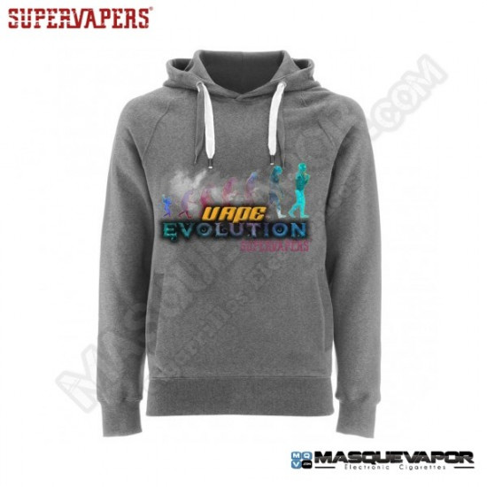 MAN VAPE EVOLUTION GRAY SWEATSHIRT SIZE: M