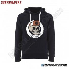 MAN SKULL NAVY SWEATSHIRT SUPERVAPERS SIZE: M