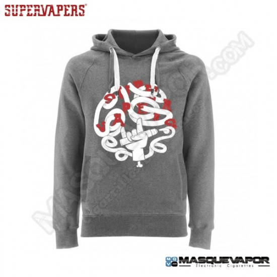 SUDADERA HOMBRE GRIS YEAH SUPERVAPERS TALLA: M