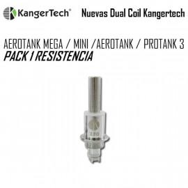 KANGERTECH DUAL COIL AEROTANK / PROTANK - Pack 1 Resistencia