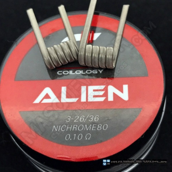 ALIEN NI80 26G 0.10OHM PACK 2 COILS COILOLOGY