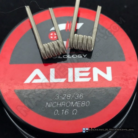 ALIEN NI80 28G 0.16OHM PACK 2 COILS COILOLOGY