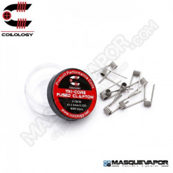 PERFORMANCE COIL TRI-CORE FUSED CLAPTON 3-28/36 PACK 10 COILS COILOLOGY