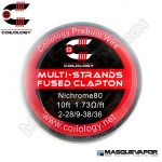 SPOOL WIRE MULTI-STRANDS FUSED CLAPTON NI80 2-28/9-38/36 COILOLOGY