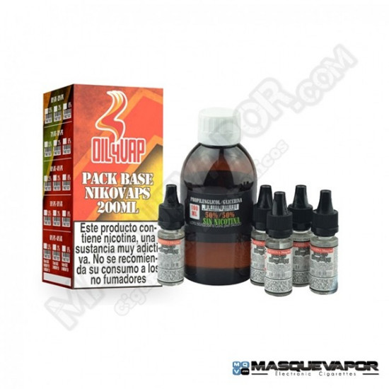 PACK BASE OIL4VAP TPD 200ML 50PG/50VG 6MG