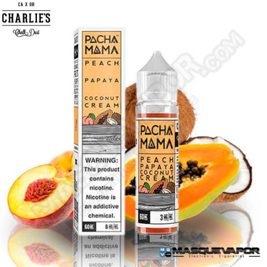 PEACH PAPAYA COCONUT CREAM PACHA MAMA TPD 50ML 0MG