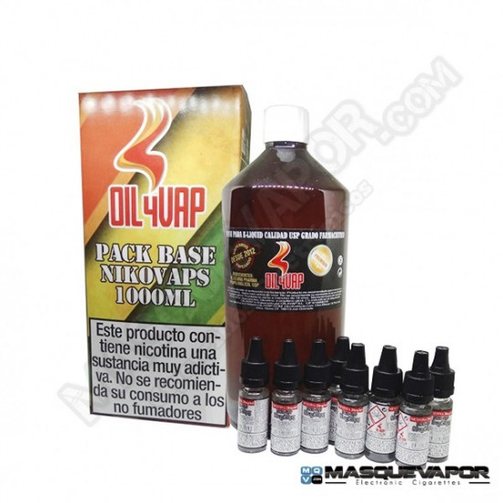 PACK BASE OIL4VAP TPD 400ML 50PG/50VG 1.5MG
