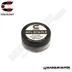 PERFORMANCE COIL MTL STAPLE Ni80 4- 1*3/40 PACK 10 COILS COILOLOGY