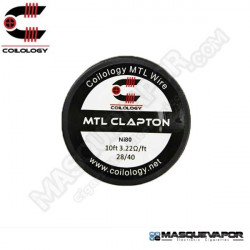 SPOOL WIRE CLAPTON MTL NI80 28/40 COILOLOGY