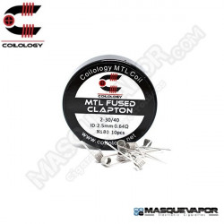 PERFORMANCE COIL MTL FUSED CLAPTON Ni80 2-30/40 PACK 10 COILS COILOLOGY