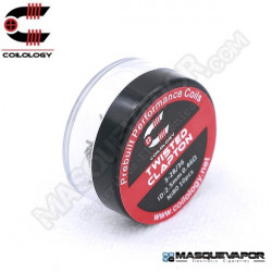 PERFORMANCE COIL TWISTED CLAPTON Ni80 3-28/36 PACK 10 COILS COILOLOGY
