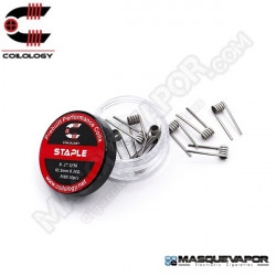 PERFORMANCE COIL STAPLE Ni80 8-1*.3/36 PACK 10 COILS COILOLOGY