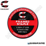 PERFORMANCE COIL FRAMED STAPLE Ni80 2-28/4-1*.3/36 PACK 10 COILS COILOLOGY