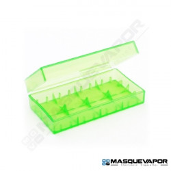 TWIN CASE 2 X 18650 BATTERY GREEN