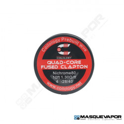 SPOOL WIRE QUAD-CORE FUSED CLAPTON Ni80 4-28/40 COILOLOGY