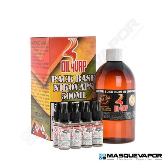 PACK BASE OIL4VAP TPD 500ML 20PG/80VG 3MG
