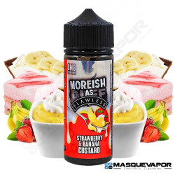 STRAWBERRY AND BANANA CUSTARD MOREISH AS FLAWLESS TPD 100ML 0MG