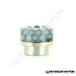DRIP TIP 810 EPOXY RESIN HONEYCOMB SILVER