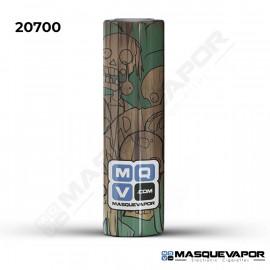 5 X WRAPS 20700 WOOD ZOMBIE SKULLS