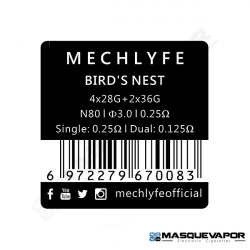 BIRD NEST PREMADE COILS MECHLYFE 6PCS