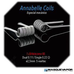 ANABELLE 0.11OHM FULL NI80 SPIRIT COILS