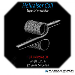HELLRAISER 0.28OHM SINGLE COIL SPIRIT COILS