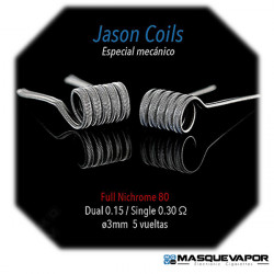 JASON 0.15OHM FULL NI80 SPIRIT COILS