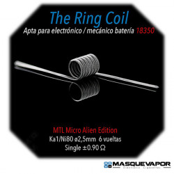 THE RING 0.90OHM SINGLE COIL NI80/KA1 SPIRIT COILS