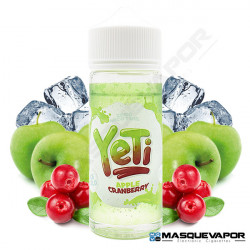 APPLE AND CRANBERRY ICE YETI ELIQUIDS TPD 100ML 0MG