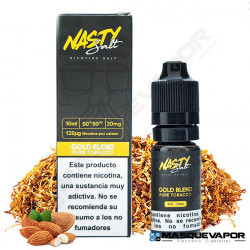 GOLD BLEND PURE TOBACCO NIC SALT NASTY JUICE TPD 10ML 20MG