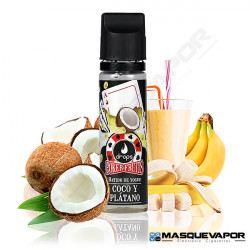 BATIDO DE COCO PLATANO POKER FRUITS DROPS ELIQUIDS 50ML 0MG