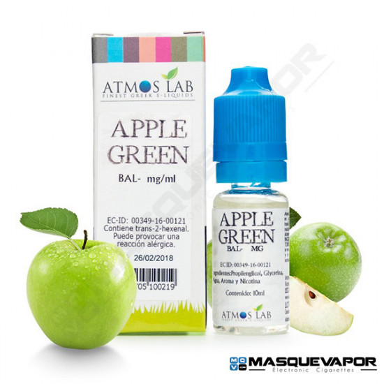 GREEN APPLE ATMOS LAB TPD 10ML 6MG