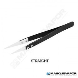 CERAMIC TWEEZERS BLACK STRAIGHT
