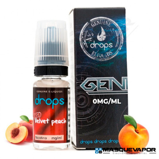 RED VELVET PEACH DROPS ELIQUIDS 10ML 0MG