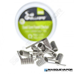 FUSED CLAPTON QUAD CORE NI90 10PCS HELLVAPE 0.14OHM
