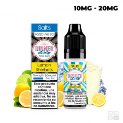 LEMON SHERBET NIC SALT DINNER LADY TPD 10ML