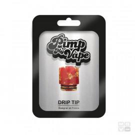 DRIP TIP 810 LONG RESIN GOLD PIMP MY VAPE